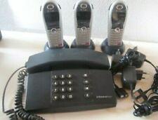 Telefon Telekom Signo schwarz 5.94 Festnetz und 3 x Mobilgeräten Sinus 702 K