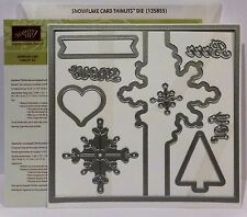 Stampin Up SNOWFLAKE CARD Thinlits Dies Sizzix Bigshot NEW Christmas tree snow