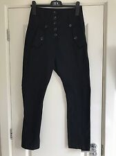 Women's All Saints Black Delta Combat Trousers UK 6