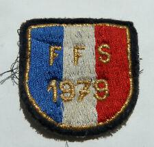 ÉCUSSON brodé Équipe de FRANCE Fédération Française de SKI F.F.S. 1979