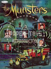 VINTAGE REPRINT - 1965 - THE MUNSTERS COLORING BOOK SAMPLER