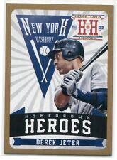 2013 Hometown Heroes Homegrown Heroes Gold 3 Derek Jeter