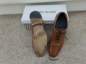 Mens brown shoes size 9 river island