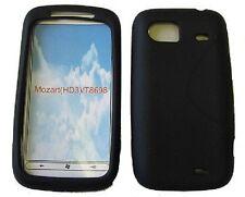 HTC Mozart HD3 Piel De Silicona (Negro)