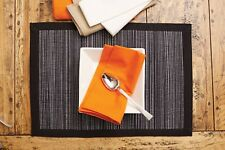 NEW RANS Rani Placemats Straw Unique and Cotton Blend - Set of 6