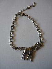 Giraffe Emblem Made From Fine English Pewter on a Anklet / Bracelet codew8