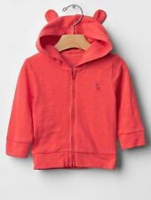 GAP Baby Boys / Girls Size 0-3 Months Red Hoodie Cardigan Sweater w/Bear Ears