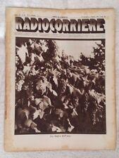 RADIOCORRIERE EIAR 1931 VII N° 39 PUBBLICITA' STROMBERG CARLSON, RAM RADIO