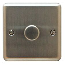 Volex Metal Plate Dimmer 2w Mains/lv Lighting 1x400w/400va SS Re Stainless Steel