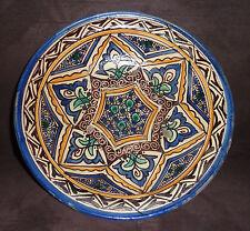 Fez - Ancien peint en faïence polychrome à décor de motifs géométriques