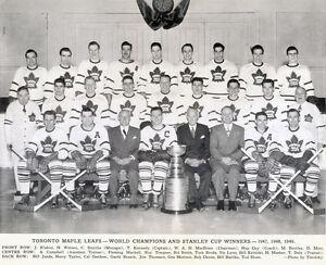 Toronto Maple Leafs 1948-49 Stanley Cup Championship - 8x10 B&W Team Photo