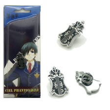 Black Butler Sebastian Michaelis Pin Badge Cosplay Metal Anime Toy Gift