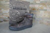 5254e569f37e NAPAPIJRI 41 Stiefeletten Vintage Schnürschuhe Schuhe graubraun ehem.  UVP185€
