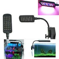 28 LED Aquarium  Tank Clamp Clip Fish Lamp Light White & Blue Color Lighting New