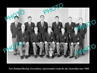 OLD LARGE HISTORIC PHOTO OF THE 1960 NEW ZEALAND BOXING ASSOC TEAM AUST TOUR