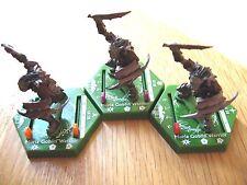 """LOTR TMG Combat Hex BS 010, 011 & 012 """"RARE"""" Moria Goblin Warrior (3 figures)"""