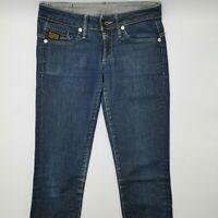 G-Star Midge Skinny WMN 60079 W28 L32 blau Damen Designer Denim Jeans Hose VTG