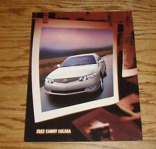 Original 2002 Toyota Camry Solara Foldout Sales Brochure 02
