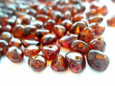 NATURAL ROUND POLISHED BALTIC HOLED AMBER LOOSE 70 BEADS + 1 plastic screw clasp
