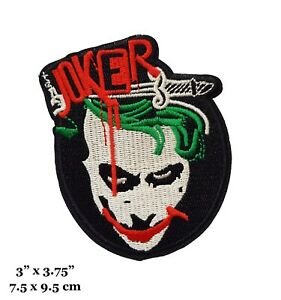 The Joker Comic Book Character Embroidered Iron On Patch