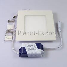 SPOT LED Carré 6W EXTRA PLAT HAUTE Intensité Blanc Froid Pilote 220V