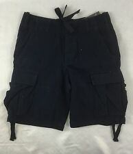 Abercrombie & Fitch Military Classic Cargo Shorts Navy Blue $58 Size 33