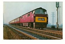 WESTERN CLASS TYPE 4 DIESEL LOCOMOTIVE REAL PHOTO SALMON POSTCARD UNPOSTED