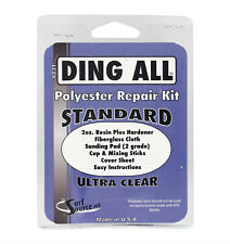 Ding All Polyester Surfboard Repair Kit, Ultra Clear, fixes Polyester, New