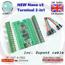 Arduino Nano v3.0 Compatible + Terminal Adapter IO Board Expansion Shield Module