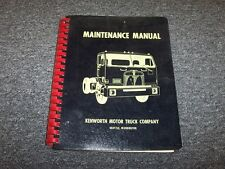 1971 1972 1973 Kenworth K125 Semi Truck Shop Service Repair Maintenance Manual
