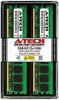 A-Tech 2GB 2 x 1GB PC2-6400 Desktop DDR2 800 MHz DIMM 240-Pin Non-ECC Memory RAM