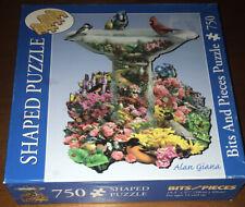 Bits and Pieces Birdbath Garden 750 PC Shaped Jigsaw Puzzle Alan Giana FREE SH