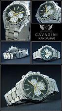 Kandahar Luxury Men's Chronograph Cavadini Watch Tachymeter 10 BAR WATER SEALING