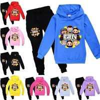 FGTeeV Family Gaming Kids Boy Girls Hoodies Hooded Top+Pants Trousers Sets