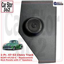"Custom Autosound KCHT-47/3-COM Kick Panels&4"" Speakers 47-53 Chevy/GMC Truck"