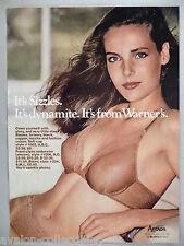 Warner Bra PRINT AD - 1981 ~~ panty, panties, lingerie