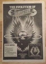 Journey Evolution tour 1979 press advert Full page 28 x 39 cm mini poster