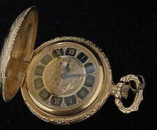 G615 Pocket Watch Very Ornate Running Rare 14k Gf 17 Jewels Waltham