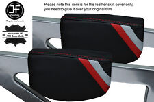 RED CUCITURE SPORT STRIPE 2x Center Triangolo In Cuoio Copertine Si Adatta Audi TT MK1