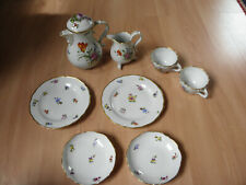 Plaue Schierholz Porzellanmanufaktur Kaffee- Teeservice 8 tlg Rose, Handmalerei