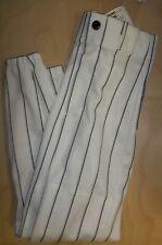 "Lot Of 2 Bike Baseball Pants, Youth Extra Small White, Black Stripes 4214 20-22"""