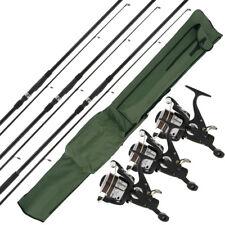 3 x NGT Carp Max 12ft Rods + 3 x MAX40 2BB Reels Pre-Spooled 10lb Line & Holdall