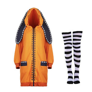 Anime Gambler Runa Yomozuki Outfit Coat Cosplay Costume Collection Party Hoodie