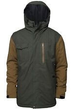 New listing Special Blend kinetic Men's M Full Speed Green & Brown Snowboarding Coat Save!
