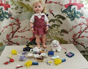 Vintage 1999 Amazing Allysen Doll with lots of accessories Works!!