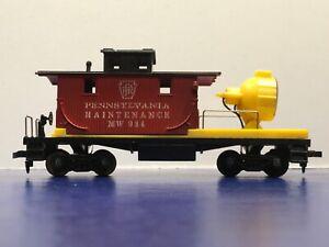 "HO Scale ""Pennsylvania Maintenance"" MW 984 Freight Train Floodlight Work Train"