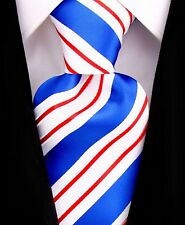 USA Necktie Mens Woven Blue Tie by Scott Allan Collection