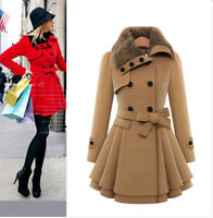 Women's Lady Slim Warm Winter Trench Coat Jacket Parka Overcoat Outwear Clothes