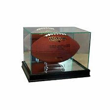 New Real Glass Rectangle Football Display Case Black Sport Molding FREE SHIPPING