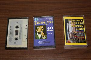 Cassette Tape x3 Foster and Allen, Perry Como, Juke Box Saturday Night - POP